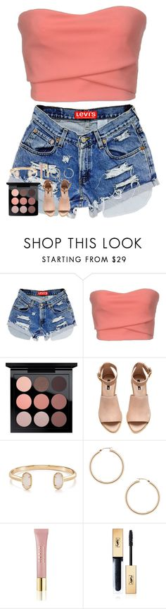 """""""seven days of limbo"""" by pineapple5415 ❤ liked on Polyvore featuring Alex Vidal, MAC Cosmetics, H&M, Kendra Scott, ERTH, AERIN and Yves Saint Laurent"""