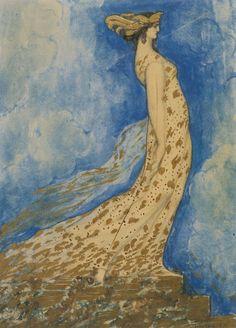 cavetocanvas: Jean Delville (Belgian symbolist painter, writer, and occultist; ~ The Swan Maiden Gustav Klimt, Alfred Stevens, Georges Seurat, Walter Crane, Magritte, Art Deco, Art Nouveau, Glasgow, Jean Delville