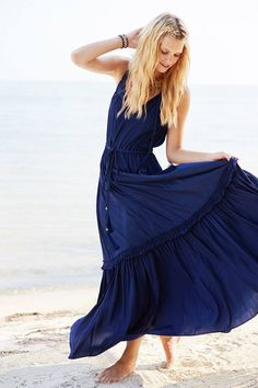 Enjoy 25% off your purchase when you donate to Calypso Cares! Beautiful navy maxi dress.
