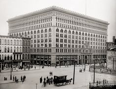 Ellicott Square Building, Buffalo, N.Y. was designed by Charles Atwood of D. H. Burnham & Company, and completed in May, 1896. At the time of its completion, it was the largest office building in the world.