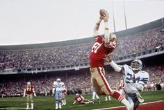 """The Catch"" Dwight Clark, San Francisco 49ers, January 10, 1981"