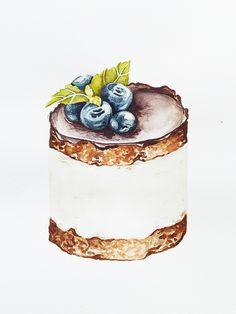 anastasiya anastasiya on Behance Watercolor Birthday Cards, Watercolor Food, Watercolour, Cupcake Pictures, Food Pictures, Cupcake Pics, Dessert Illustration, Watercolor Illustration, Food Art Painting