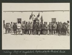 Military staff at Magdabah, captured in the British raid, 1916. LC-DIG-ppmsca-13709-00057 (digital file from original on page 16, no.56)   Library of Congress