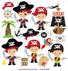 Pirate Boy, Pirate Theme, Pirate Birthday, Mermaid Birthday, Images Pirates, Clip Art, Granny Joy, Pirate Crafts, Handmade Crafts