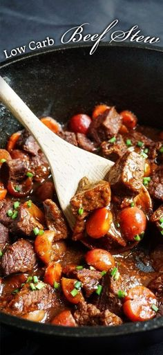 Low Carb Beef Stew - full of delicious and healthy ingredients, this keto meal is a traditional and simple dinner.