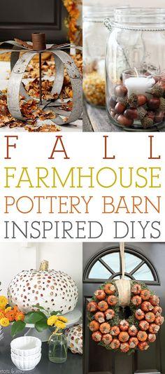 Fall Farmhouse Pottery Barn Inspired DIYS