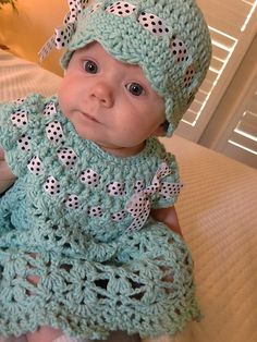 ***Pattern no longer available*** Ravelry: Plumeria Baby Dress pattern by SarahSweethearts