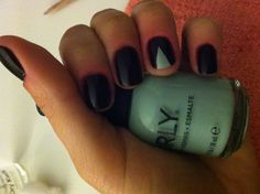 Orly new Tiffany blue and wine color nail polish ideas