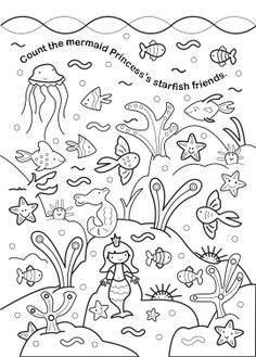 Princesses & Fairies - Look, Find & Colour