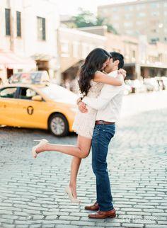NYC Highline Engagement Session. New York Wedding Photographer