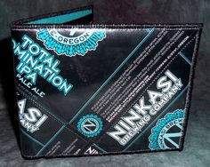 BiFold Wallet from Repurposed Ninkasi Total Dom IPA beer labels by squigglechick, $30.00