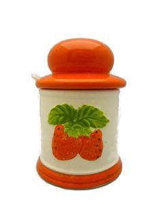 Strawberry Jam Preserves Canister Jar Made in Japan