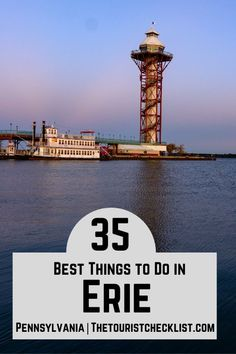 Considering what to do in Erie PA?, here are top attractions, best activities, places to visit & best things to do in Erie, Pennsylvania. Plan your travel itinerary & bucket list now! #erie #eriepa #thingstodoinerie #pennsylvania #pennsylvaniatravel #usatrip #ustravel #travelusa #ustraveldestinations #travelamerica #vacationusa #americatravel Usa Travel Guide, Travel Usa, Presque Isle State Park, Erie Pennsylvania, Great Lakes Region, Us Travel Destinations, Boat Tours, Travel Around, State Parks
