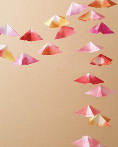 Colorful Origami Garland