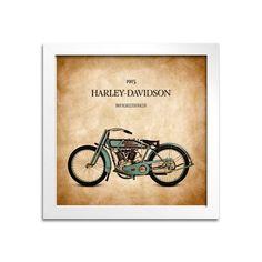 Quadro Moto Harley-Davidson 11KR Roadster Racer - Machine Cult | A loja das camisetas de carro e moto
