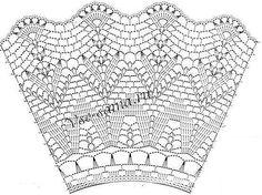 Crochet Skirt Pattern, Crochet Yoke, Crochet Skirts, Crochet Collar, Crochet Diagram, Crochet Stitches Patterns, Love Crochet, Irish Crochet, Crochet Doilies