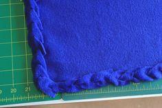 No sew fleece blanket edging