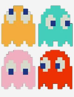 Pac Man Pennant Banner | Kandy Kreations