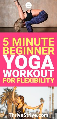 Exercise For Beginners 5 Minute Beginner Yoga Workout for Increasing Flexibility - Looking for a yoga workout for flexibility? Here is a yoga workout for beginners that will improve your flexibility and feeling great. Yoga Régénérateur, Vinyasa Yoga, Yin Yoga, Yoga Flow, Kundalini Yoga, Ashtanga Yoga, Increase Flexibility, Flexibility Workout, Exercise Workouts