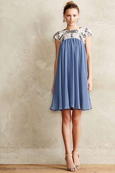Anthropologie - Carraway Embellished Swing Dress