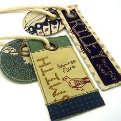 Denim hangtags : Fossil by handmade julz, via Flickr