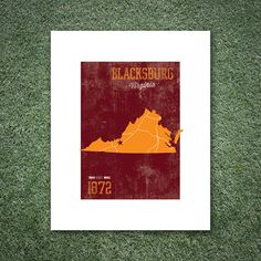 Virginia Tech University Print by UniversityPrints on Etsy