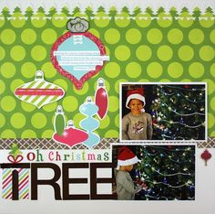 Holidazzle Evergreen Border Maker Scrapbook Layout Project Idea from Creative Memories