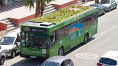 Does a green roof on a bus really make sense? Greening the urban environment is important. Sticking a roof garden on a moving bus is an odd way to do it.