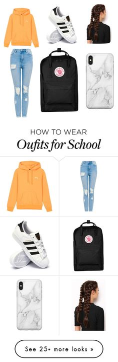 """""""lazy day @ school"""" by rowantace on Polyvore featuring adidas, LullaBellz, Recover and Fjällräven"""