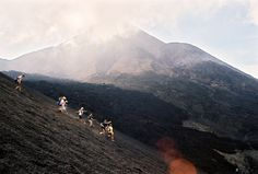 """""""Wolverines Running Down Pacaya Volcano, Guatemala"""" Program: EGL Volunteer Abroad Location: Guatemala Submitted by: Alexander Pachette"""