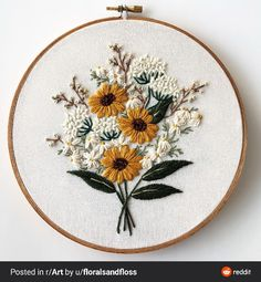 Discover recipes, home ideas, style inspiration and other ideas to try. Hand Work Embroidery, Creative Embroidery, Crewel Embroidery, Modern Embroidery, Hand Embroidery Patterns, Cross Stitch Embroidery, Cross Stitch Patterns, Simple Embroidery, Broderie Simple