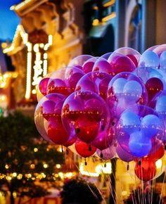 Mickey Balloons at night :))
