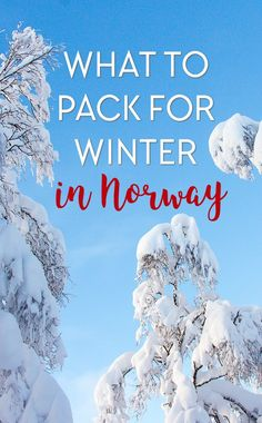 A list of all the things you should be packing for your winter trip to Norway - or any other cold winter destination!