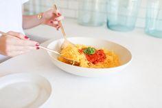 Easy Tomato Basil Spaghetti Squash by LaurenConrad.com