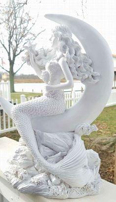 World of Statues Mermaid Room, Mermaid Art, Mermaid Paintings, Mermaid Statue, Fantasy Mermaids, Mermaids And Mermen, Mermaid Sculpture, Sculpture Art, Statue Tattoo