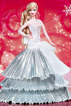 2008 Holiday Barbie Doll- Love everything but the overly long V-neck.
