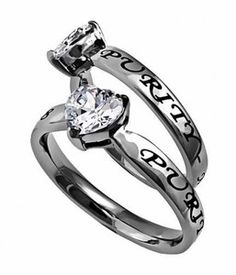 Spirit & Truth New CZ Heart Purity Ring. Very cool. Sizes 5 to 9.
