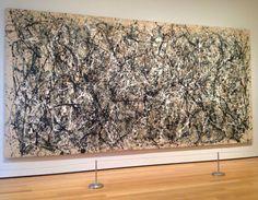 Jackson Pollock Artist Painting Autumn Rhythm Moma Museum Of Modern Art New York