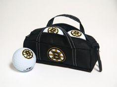 Boston Bruins Mini Hockey Bag with Golf Balls by Hockey Stick Putter. Buy it @ ReadyGolf.com