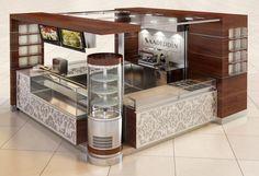 kiosk Cafe Restaurant, Restaurant Design, Cafe Bar, Kiosk Design, Retail Design, Stand Design, Booth Design, Coffee Cafe Interior, Tea Room Decor