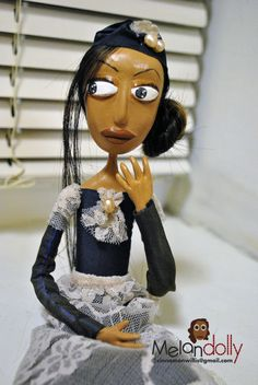 The drama queen art doll by Melan Dolly