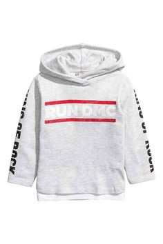 09dacdfdb Printed hooded top - Light grey RUN DMC - Kids