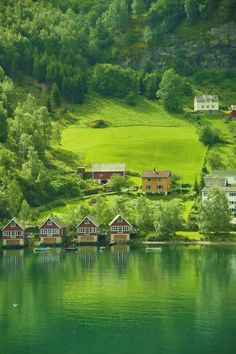 Small town north of Bergen Norway Photograph by Beverly Hanson.... #Relax more with healing sounds: