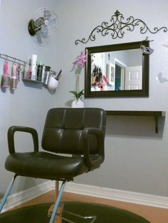Step into my office..., I am freelance hairstylist this is my favorite room in my house! I have some of my consultations here, though this i...