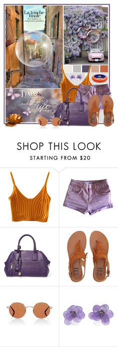 """Pop of Purple and Orange"" by leegal57 ❤ liked on Polyvore featuring Topshop, Marc Jacobs, Billabong, Oliver Peoples, Chanel and Dsquared2"