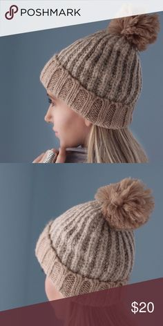 Gramercy Park Hat ◽️The Gramercy Park Knit Hat is so cute for winter! Gorgeous neutral tan and beige. Soft and not itchy! Just what you need when it starts to snow! Also for sale in ivory/gray shown in zoomed in fabric photos.  ▫️Price is firm  Photos are my own Accessories Hats