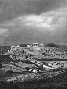 Acropolis of Athens, 1920 Greece Pictures, Old Pictures, Old Photos, Vintage Pictures, Athens Acropolis, Athens Greece, Greece History, Still Photography, Greek Art