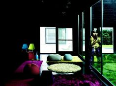 Poufs, rugs, luxury, and comfort