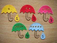 Umbrella Felt Board Story