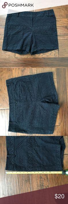 Loft blue laced shorts size 10 Super cute shorts! Not too short Navy blue lace LOFT Shorts